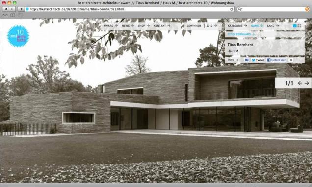 Auszeichnungen 2010 - best architects award