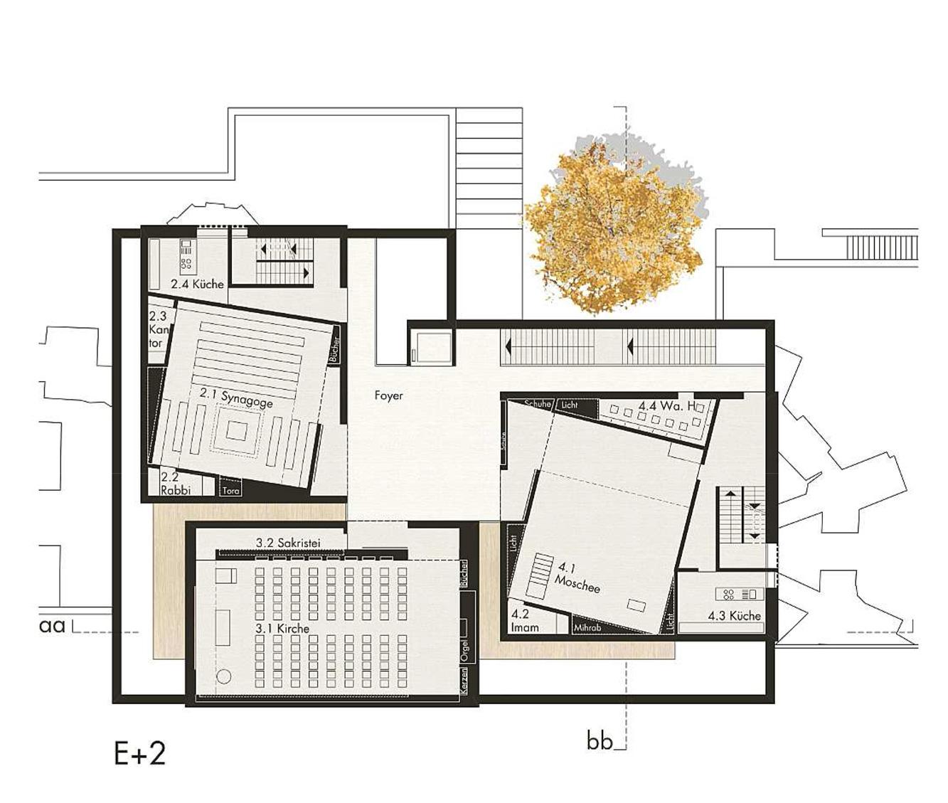 Foyer Museum Grundriss : Bethaus am petriplatz berlin titus bernhard architekten