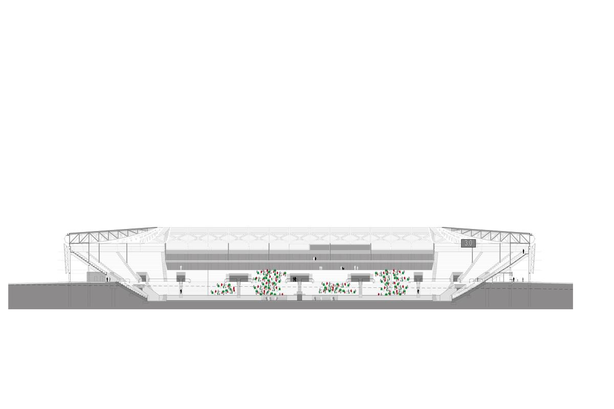 fca fu ballstadion augsburg titus bernhard architekten. Black Bedroom Furniture Sets. Home Design Ideas