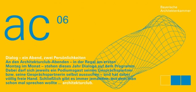 """Architekturclub Dialog - ein Abend, drei Persönlichkeiten: """"Welche Wege führen zu Authentizität?"""" am 02.06.2014"""