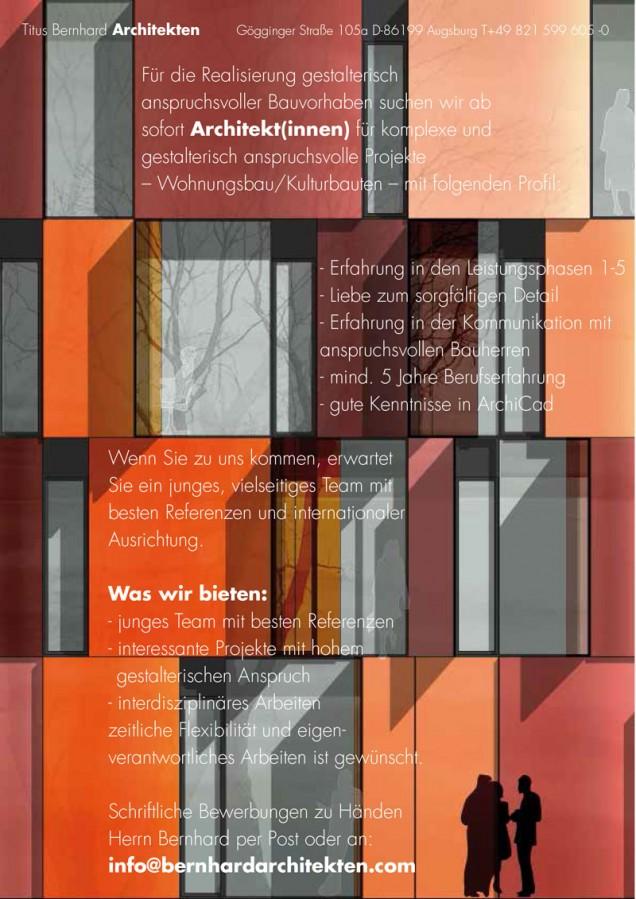 Architekt(inn)en gesucht!!