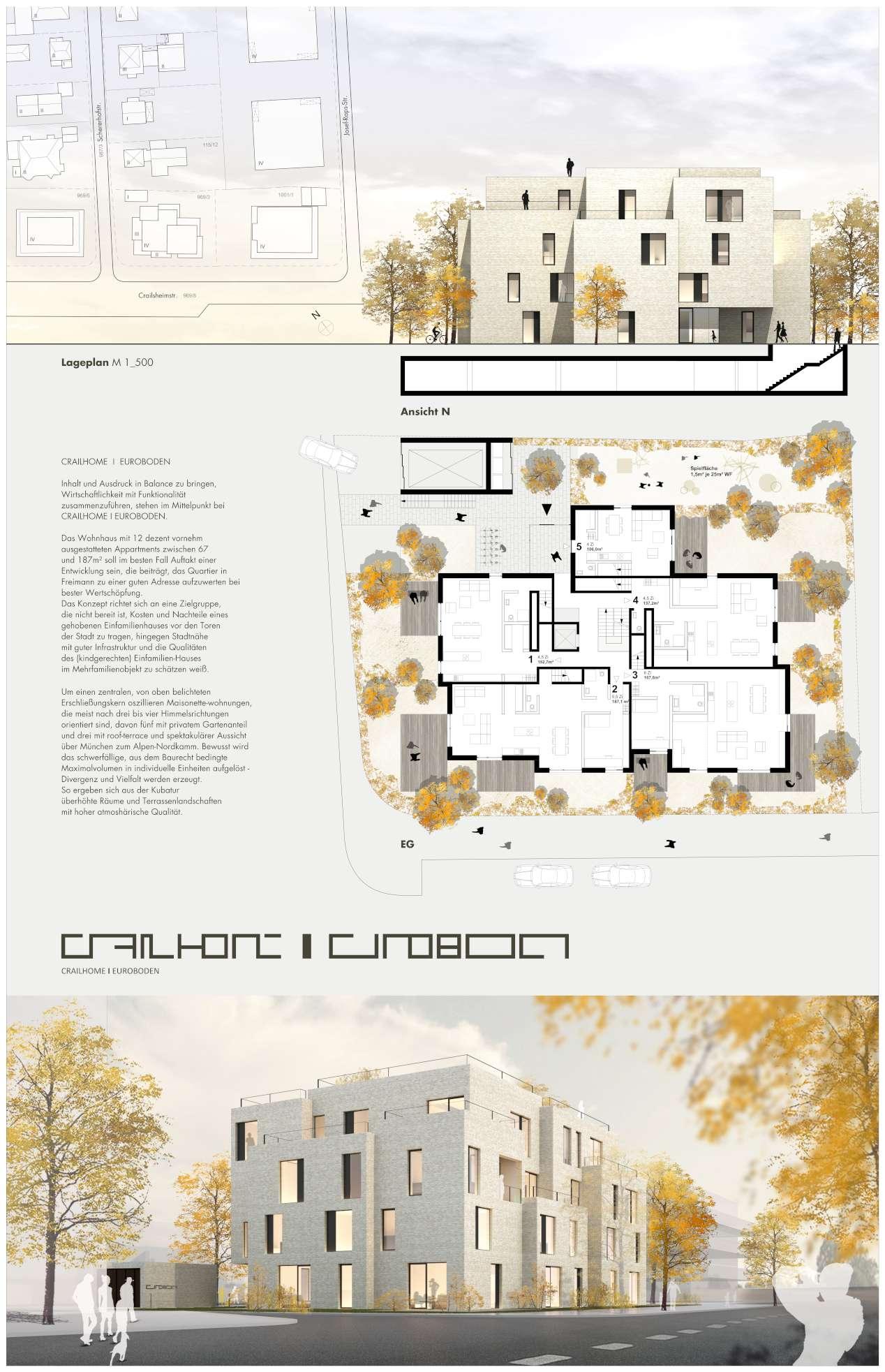 Eigentumswohnungen crailsheimstrasse freimann titus bernhard architekten - Architektur plan ...