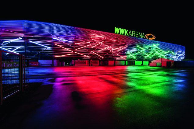 Stadionfassade Wwk Arena Titus Bernhard Architekten