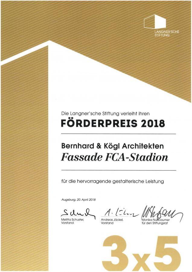 Förderpreis 2018 Langner'sche Stiftung