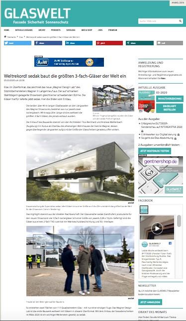 GLASWELT berichtet über Wagner Design Lab
