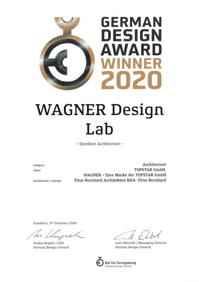 German Design Award Winner 2020: WAGNER Design Lab