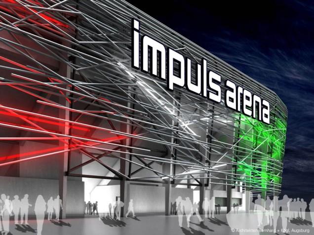 1. Rang beim Beschränkten Einladungs-Wettbewerb Fußball-Arena FC Augsburg