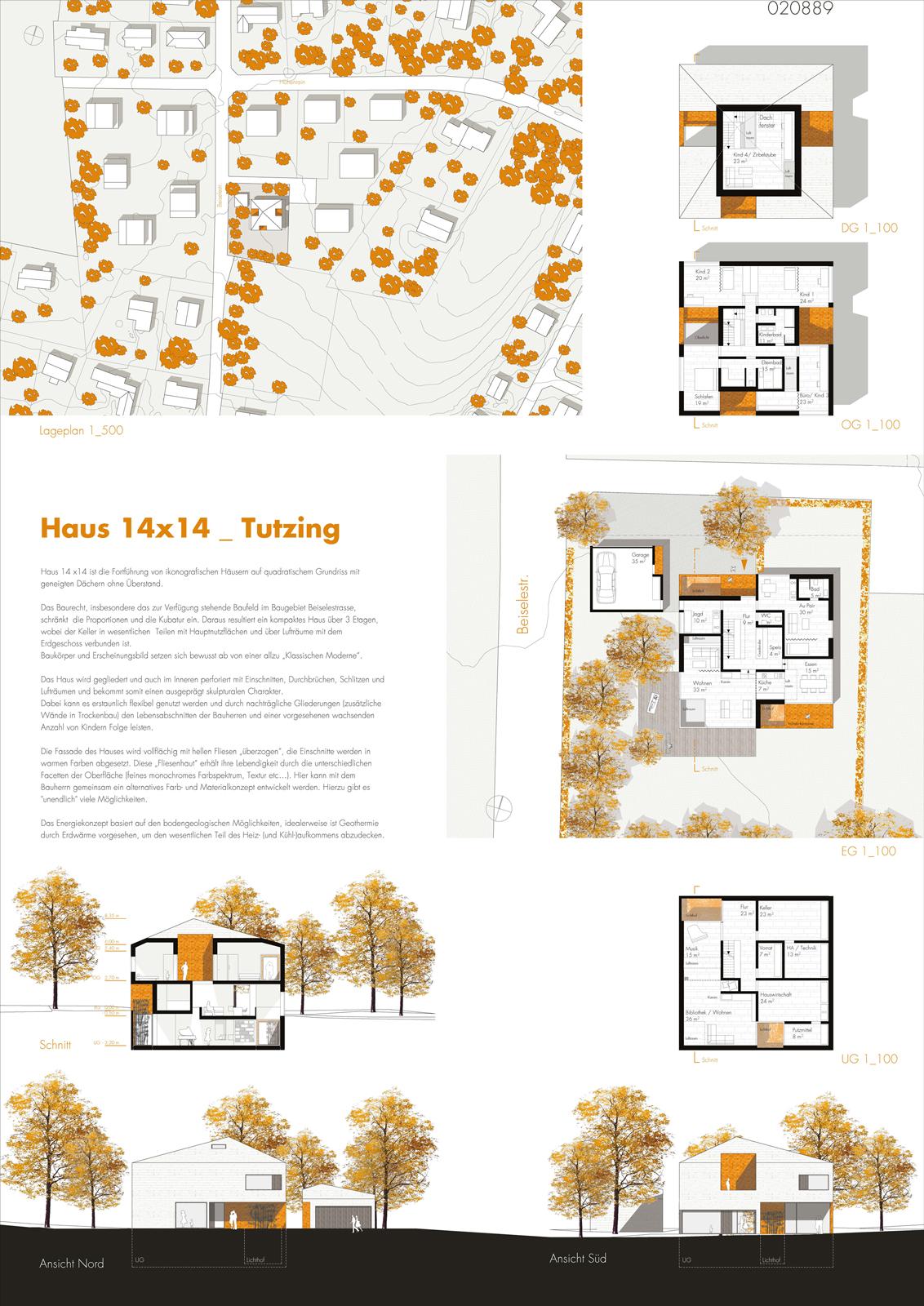 """2. Preis beim Wettbewerb """"Haus Schiewe"""", Tutzing"""