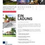 Vortrag - Architekturgespräche München am 15. Oktober 2015