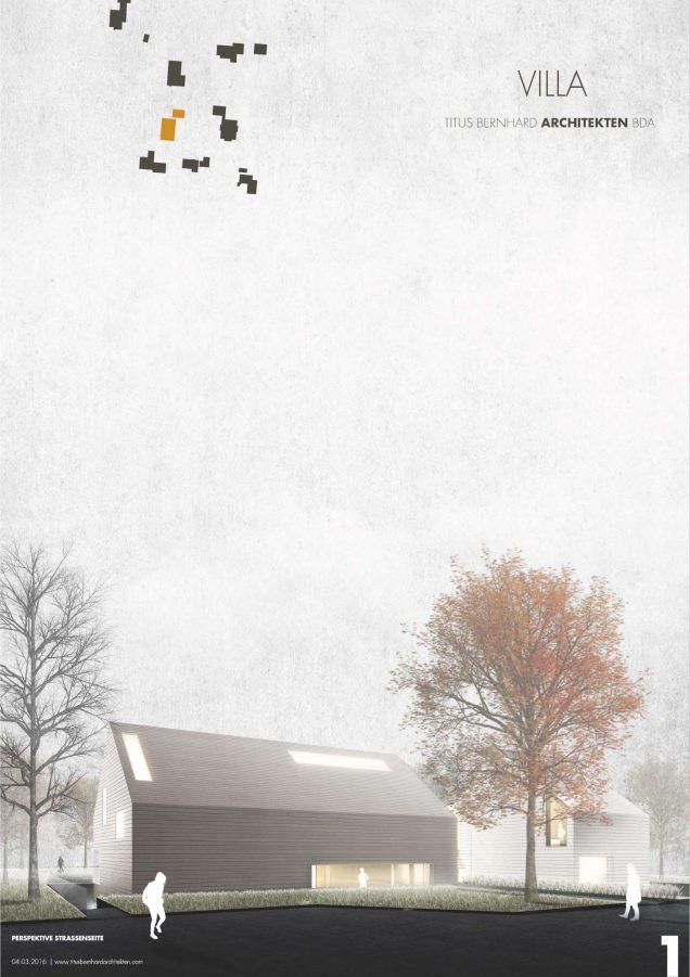 1. Preis beim Wettbewerb für eine Villa in Nordrhein-Westfalen